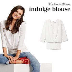 CAbi #5339 white indulge blouse size Medium